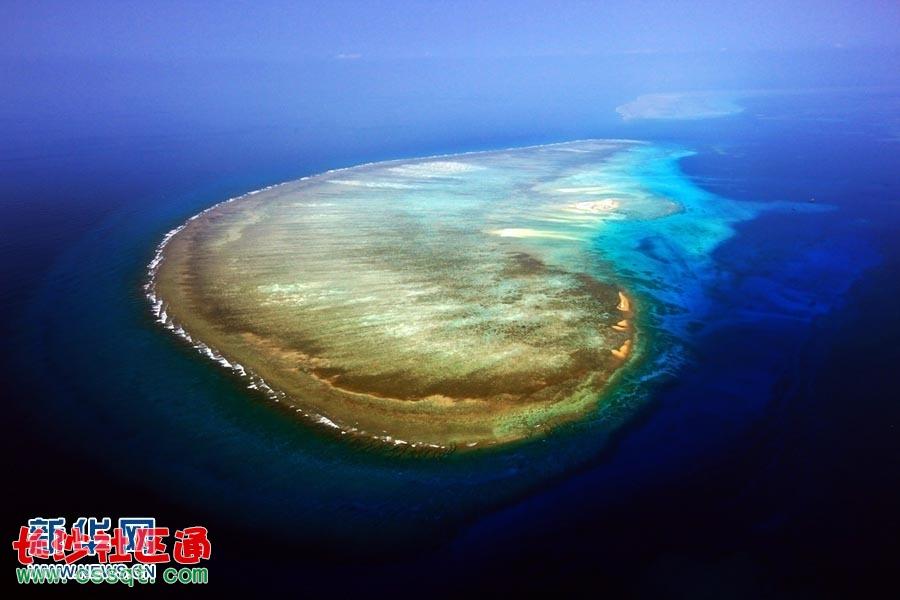 记者航拍西沙群岛 展现壮美全貌