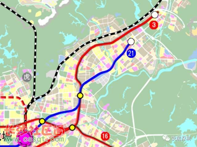 全市共规划城市轨道线路32条 据悉,本次规划遵循轨道交通引导城市发展的理念,按照对外强轴、中心加密、外围联通的总体原则,全市共规划城市轨道线路32条,总规模约1142公里(含弹性发展线路约53公里),由市域快线和普速线路两个层次构成。其中,市域快线8条,总规模约412公里,普速线路24条,总规模约730公里。 另外,为支撑深圳建设全国性经济中心城市和国际化城市,发挥轨道交通引导城市产业升级、优化空间结构的作用,《规划》构建以轨道交通为骨干,与各种交通方式协调发展的一体化交通体系,实现45/70/70