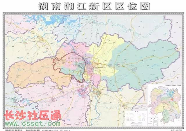 湖南湘江新区地图首次公布 规划细节史上最全 配置逆天!