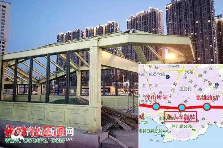 高雄路站地处高雄路香港中路江西路三线交汇处,距离青岛大学较近