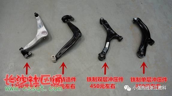 丰田凯美瑞 铁制双层冲压件 ? 日产天籁 铝合金铸造件 ?